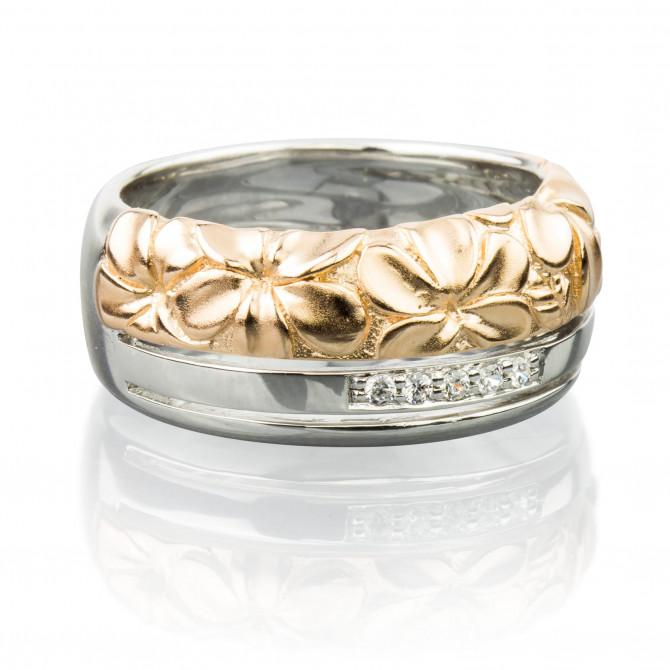Ring Blume Silber 925/000 Rose-vergoldet 14A096