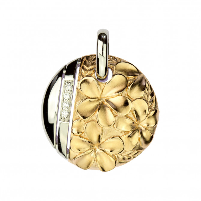 Anhänger Blume Silber 925/000 Rose-vergoldet 14A098