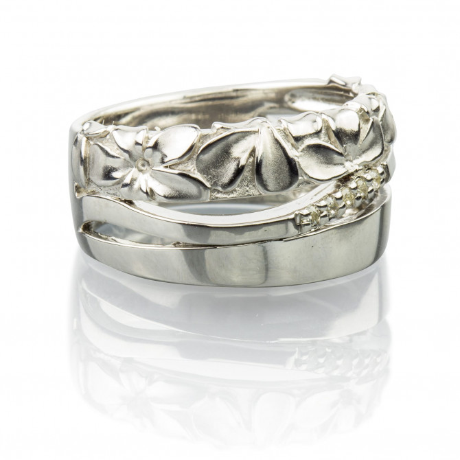 Ring Blume Silber 925/000 14A101-60