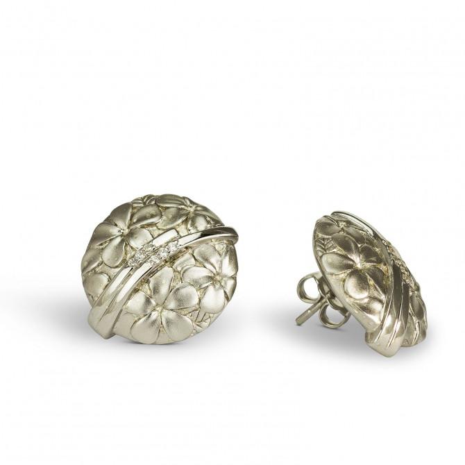 Ohrstecker Blume Silber 925/000 15A105