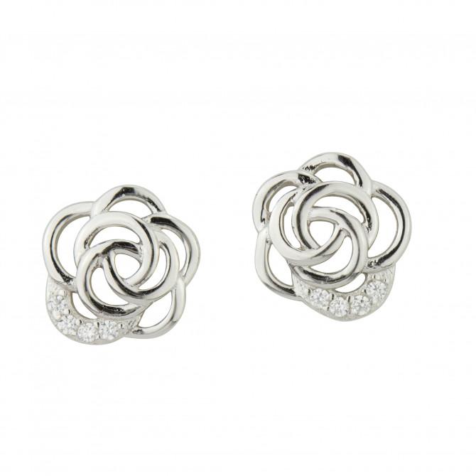 Ohrstecker Blume Silber 925/000 17A1446